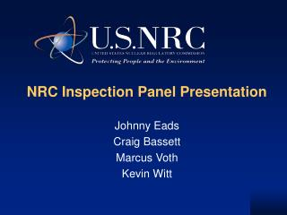 NRC Inspection Panel Presentation