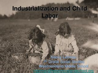 Industrialization and Child Labor