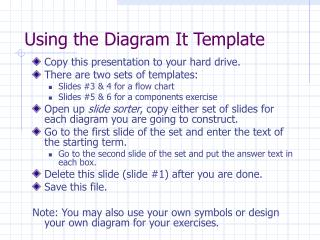 Using the Diagram It Template