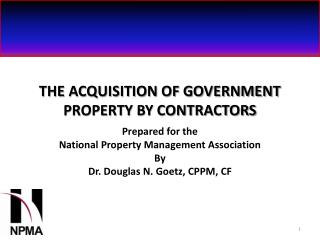 THE ACQUISITION OF GOVERNMENT PROPERTY BY CONTRACTORS