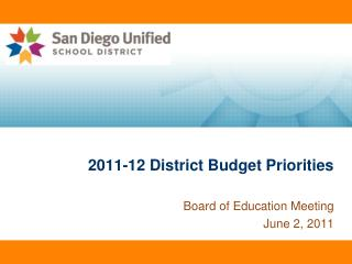 2011-12 District Budget Priorities