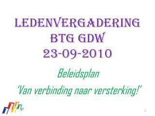 ledenvergadering  Btg  GDW 23-09-2010