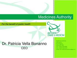 Dr. Patricia Vella Bonanno CEO
