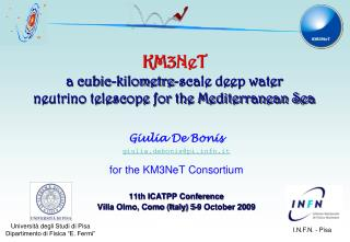 KM3NeT a cubic-kilometre-scale deep water  neutrino telescope for the Mediterranean Sea