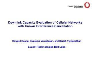 Downlink Capacity Evaluation of Cellular Networks with Known Interference Cancellation