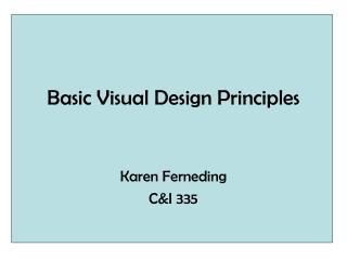 Basic Visual Design Principles