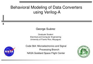 Behavioral Modeling of Data Converters  using Verilog-A