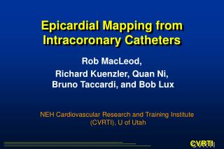 Epicardial Mapping from Intracoronary Catheters