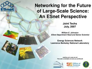 Networking for the Future of Large-Scale Science: An ESnet Perspective