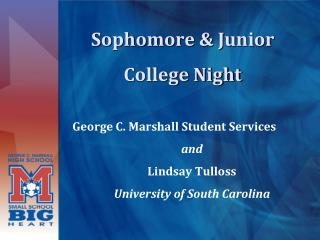 Sophomore & Junior College Night