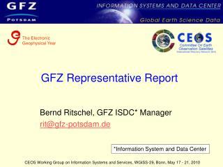 GFZ Representative Report