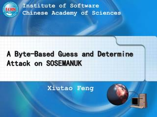 A Byte-Based Guess and Determine Attack on SOSEMANUK