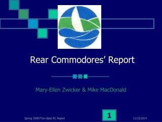 Rear Commodores' Report
