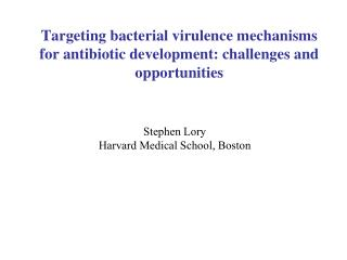 Targeting bacterial virulence mechanisms for antibiotic development: challenges and opportunities