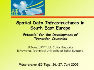 Spatial Data Infrastructures in South East Europe
