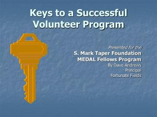 Keys to a Successful Volunteer Program