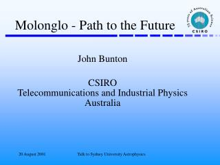 Molonglo - Path to the Future