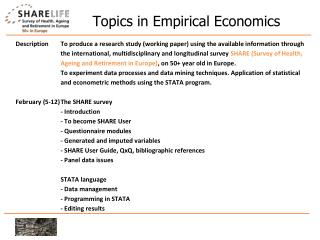 Topics in Empirical Economics