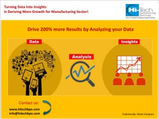 Turning Data into Insights - Driving Growth in the Manufactu