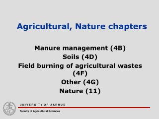 Agricultural, Nature chapters
