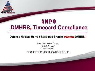 AMPO DMHRS i  Timecard Compliance