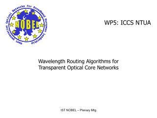 WP5: ICCS NTUA