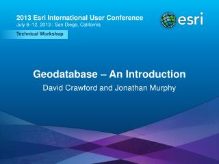 Geodatabase – An Introduction