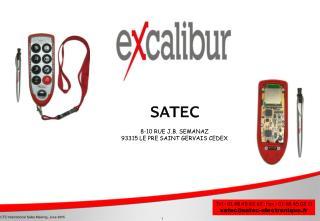 SATEC 8-10 RUE J.B. SEMANAZ 93315 LE PRE SAINT GERVAIS CEDEX