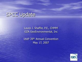 SPCC Update