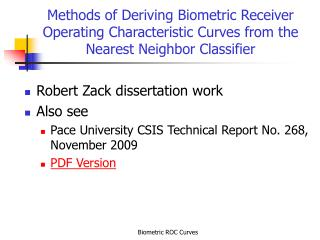 Robert Zack dissertation work Also see