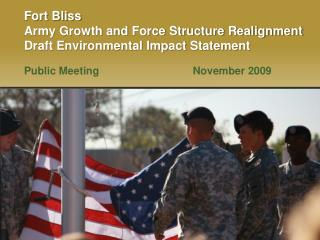 Fort Bliss Army Growth and Force Structure Realignment Draft Environmental Impact Statement