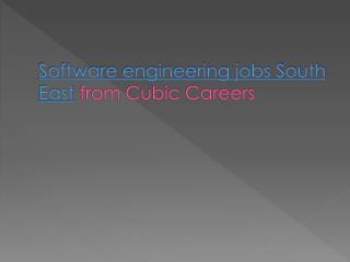 Software engineering jobs South East