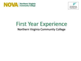 First Year Experience Northern Virginia Community College