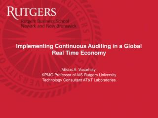Implementing Continuous Auditing in a Global Real Time Economy