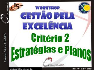 Critério 2  Estratégias e Planos