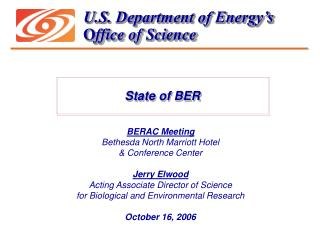 U.S. Department of Energy's O ffice of Science