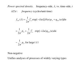 Power spectral density .    frequency-side,   ,  vs. time-side,  t