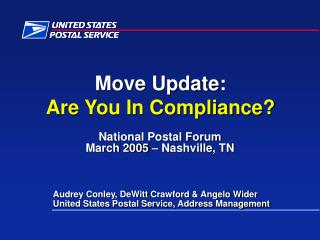 Move Update: Are You In Compliance