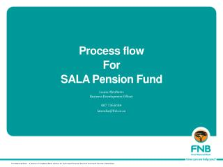 Process flow  For  SALA Pension Fund