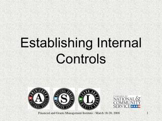 Establishing Internal Controls