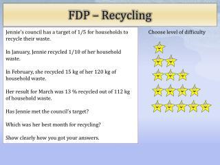 FDP � Recycling