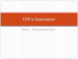 FDR's Depression