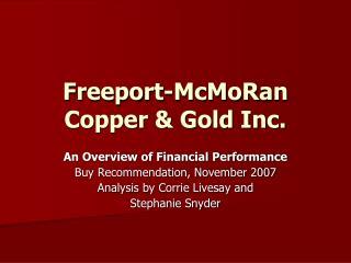 Freeport-McMoRan Copper & Gold Inc.
