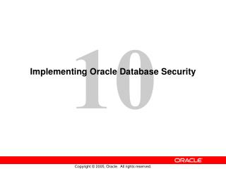 Implementing Oracle Database Security
