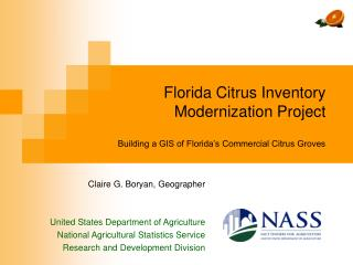 Florida Citrus Inventory Modernization Project