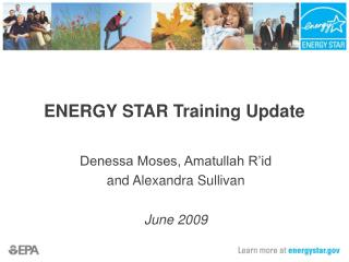 ENERGY STAR Training Update