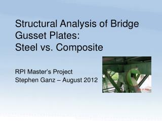 RPI Master's Project  Stephen Ganz – August 2012
