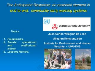 The Anticipated Response: an essential element in end-to-end,  community-early warning systems