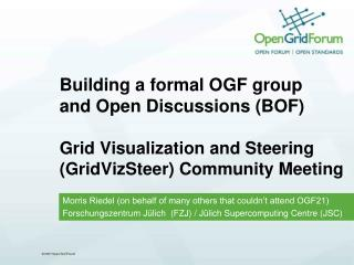 Morris Riedel (on behalf of many others that couldn't attend OGF21)