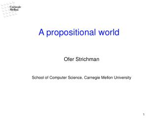 A propositional world